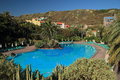 Pool and surrounding gardens la palma canary islands swimming of a hotel on the island of Royalty Free Stock Image