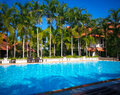 Pool swimming in thai resort Royalty Free Stock Image