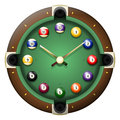 Pool table clock vector Royalty Free Stock Photo
