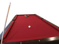 Pool table set up for break isolated a billiards the with balls on the image Royalty Free Stock Images