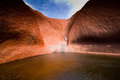 Pool under Uluru Stock Images