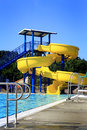 Pool Water Slide Royalty Free Stock Photo