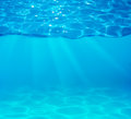 Pool water depth and surface Royalty Free Stock Photo