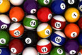 Poolball Background Stock Photography