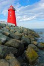 Poolbeg lighthouse. Dublin. Ireland Royalty Free Stock Photo
