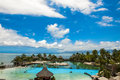 Pools hotel intercontinental papeete tahiti Stock Images