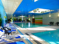 Pools with thermal water hotel in budapest Stock Photos
