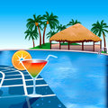 Poolside Royalty Free Stock Photo