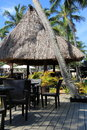 Poolside area,Westin Denarau Island Resort and Spa, Fiji,2015 Royalty Free Stock Photo