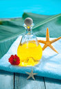 Poolside aromatherapy spa treatment Stock Photo