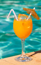Poolside Drink Royalty Free Stock Photo