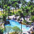 Poolside en las filipinas Foto de archivo
