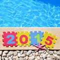2015 by poolside Royalty Free Stock Photo