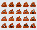 Poop emoticons smileys icons Royalty Free Stock Photo