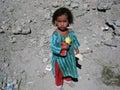 Poor girl in Afghanistan Royalty Free Stock Photo