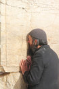 Poor man at the Wailing Wall Stock Images