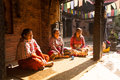 Poor people in his house the caste system is still intact today but the rules are not as rigid as they were in the past bhaktapur Royalty Free Stock Photo