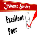 Poor rating customer service satisfaction survey vector Royalty Free Stock Photography