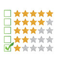 Poor review rating illustration design over a white background Royalty Free Stock Photos