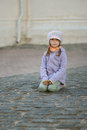 Poor unhappy girl-preschooler Royalty Free Stock Image