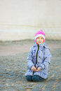 Poor unhappy girl-preschooler Royalty Free Stock Photo