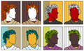 Pop-art anonymous portraits Royalty Free Stock Image