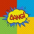 Pop art bang logo