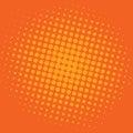 Pop Art Bittersweet Orange Dots Comic Background Vector Template Design