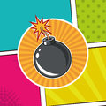 Pop art bomb colored background design