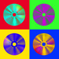 Pop-art cd discs Royalty Free Stock Images