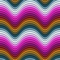 Pop Art Color Waves Magenta Red Yellow Seamless Royalty Free Stock Images