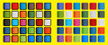 Pop art colours of the social media icons elements blank in style Royalty Free Stock Photos