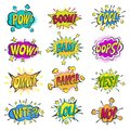 Pop art comic bubbles vector cartoon popart balloon bubbling colorful speech cloud asrtistic comics shapes isolated on