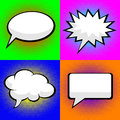 Pop art comic speech bubbles Stock Images