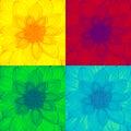 Pop art dahlia flower fullframe Royalty Free Stock Photography