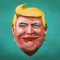 Pop Art Donald Trump illustration