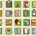 Pop art food pattern Royalty Free Stock Image