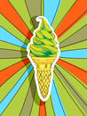 Pop art ice cream Royalty Free Stock Photos