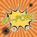 Pop art ka-pow stripes background design