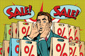 Pop art man buyer percent off sale