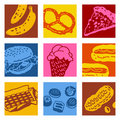 Pop art objects - food Stock Photo