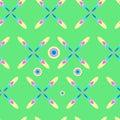 Pop art pattern, abstract seamless texture kaleidoscope  pattern 2 Royalty Free Stock Photo