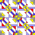 Pop art pattern seamless inspired by roy lichtenstein Stock Image