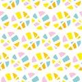 Pop art repeatable fabric sample.
