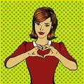 Pop Art Retro Style Woman Show...