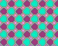 Pop Art Rounded Squares Scaled Neon Blue Royalty Free Stock Photography