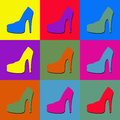 Pop art shoes Royalty Free Stock Image
