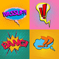 Pop Art Speech Bubbles Set