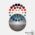 Pop art stippling spotted dotted ecircle pop art style dots vector illustration Royalty Free Stock Photo