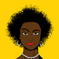 Pop Art style black girl Stock Photo